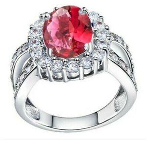 Ruby Red Royalty Design Fashion Ring Sz 7